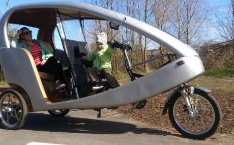 Рикша 1200W Велосипед для туризма и развлечений